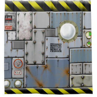 Dihydrogen monoxide pollution removal chamber shower curtain