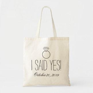 ¡Dije sí! Anillo personalizado Bolsa Tela Barata