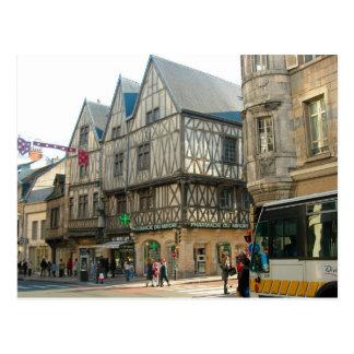 Dijon, Borgoña, Francia, edificios medievales Postales