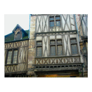 Dijon Borgoña Francia fasçade medieval Postal