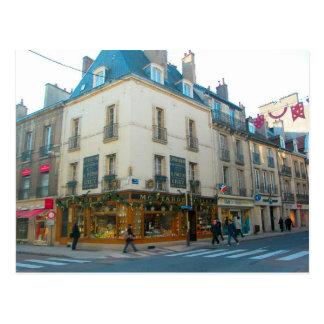 Dijon Borgoña Francia tienda de la mostaza Postal