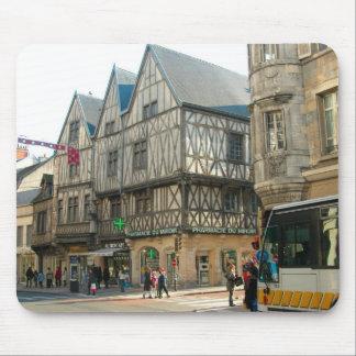 Dijon, Burgundy, France Medieval building Mouse Pads