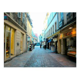 Dijon, calle Cobbled Tarjeta Postal