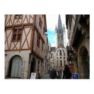 Dijon calles estrechas postales