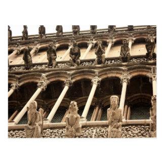 Dijon, Cathedral fasçade Postcard