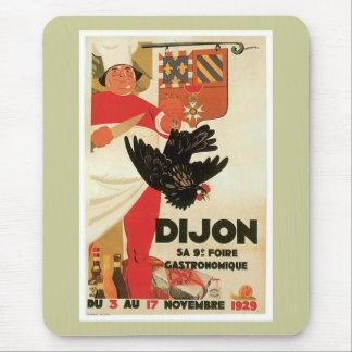 Dijon Chicken Vintage Food Ad Art Mouse Pad