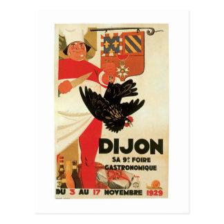 Dijon Chicken Vintage Food Ad Art Postcard