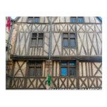 Dijon, edificio medieval tarjeta postal