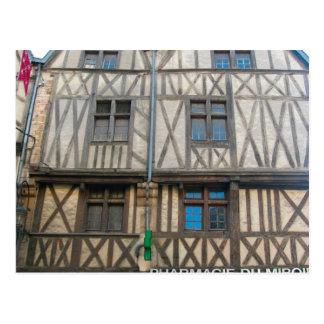 Dijon edificio medieval tarjeta postal