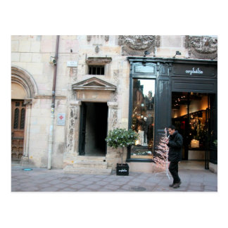Dijon, entrada elegante tarjeta postal