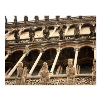 Dijon, fasçade de la catedral tarjeta postal