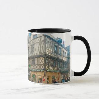 Dijon old city medieval bbuilding mug