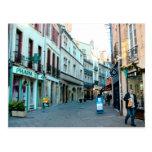 Dijon, old city shopping area postcard