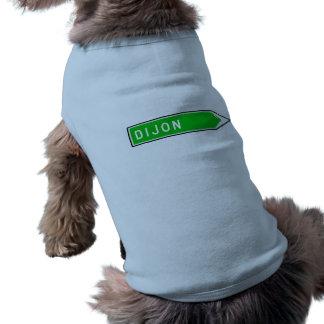 Dijon, Road Sign, France Dog Tee Shirt