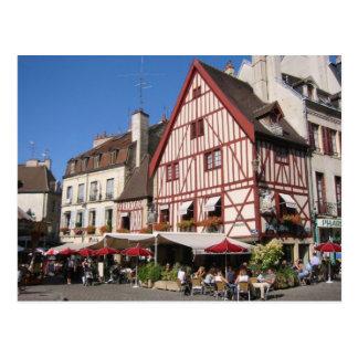 Dijon tiempo del café tarjetas postales