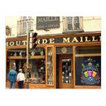 Dijon, tienda de la mostaza tarjeta postal