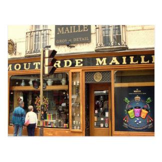 Dijon tienda de la mostaza tarjeta postal