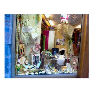 Dijon, ventana de la tienda tarjetas postales