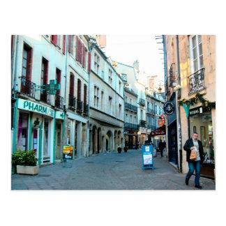 Dijon, vieja área de compras de la ciudad postales