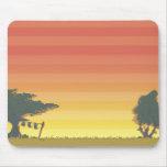 Dikdik - puesta del sol Mousepad