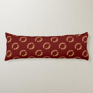Dilación en curso - color de fondo rojo cojin cama