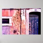 Dilapated doorway, Cascias, Portugal Print
