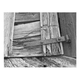 Dilapidated Corral Gate Photograph Postcard
