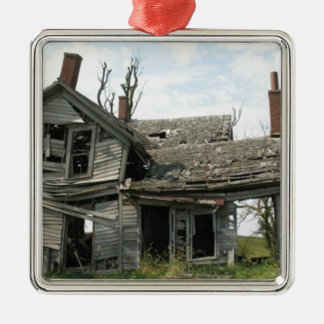 Dilapidated Farm house Metal Ornament