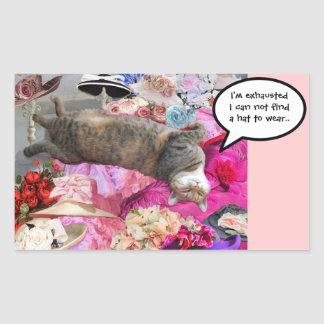 Dilema de princesa Tatus Cat Rectangular Pegatina