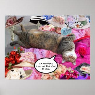 Dilema de princesa Tatus Cat Póster