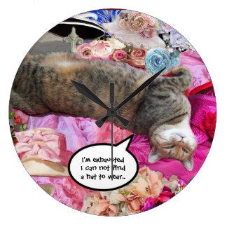 Dilema de princesa Tatus Cat Relojes De Pared