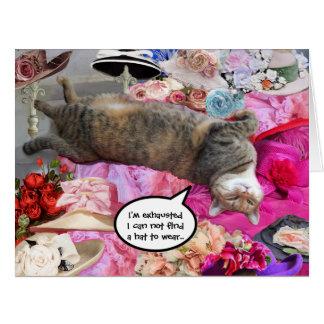 Dilema de princesa Tatus Cat Tarjeta De Felicitación Grande