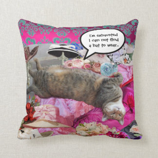 Dilemma of Princess Tatus Cat Pillow