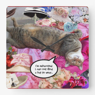 Dilemma of Princess Tatus Cat Square Wall Clock
