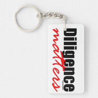 Diligence Matters Keychain