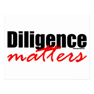 Diligence Matters Postcards