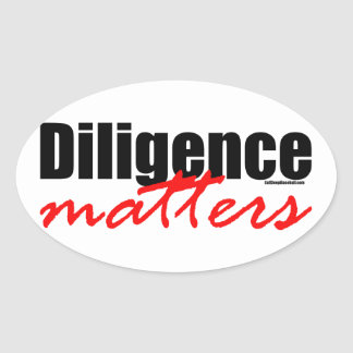 Diligence Matters Stickers