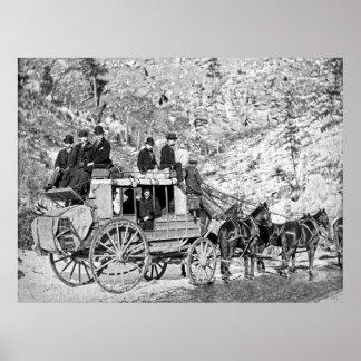 DILIGENCIA de DEADWOOD en 1889 Póster