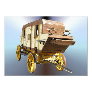 """diligencia de los 1860s - fiebre del oro de Denver Invitación 5"""" X 7"""""""