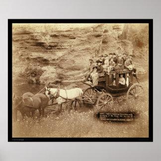 Diligencia Sioux City SD 1889 de Tallyho Poster