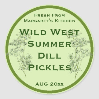 Dill Flower and Leaves Pickling Label Sticker