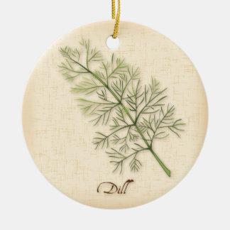 Dill Herb, Dill Weed Ceramic Ornament