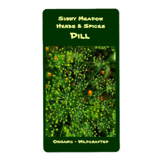 Dill Herbal Labels