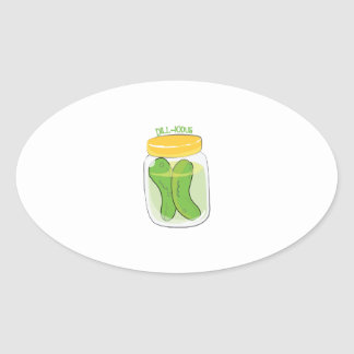Dill-icious Oval Stickers