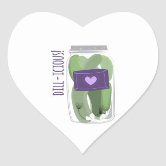 Dill-icious Heart Stickers
