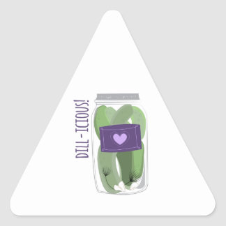 Dill-icious Triangle Stickers