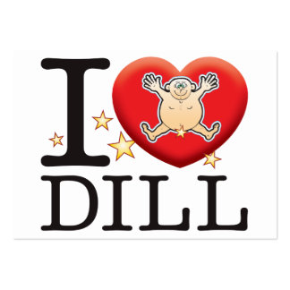 Dill Love Man Large Business Card