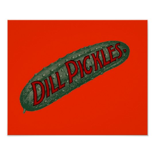 Dill Pickle Pickles Sign Antique Remastered Art