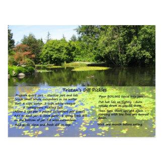 Dill Pickle Recipe Postcard