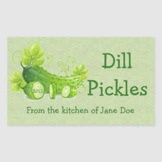 Dill Pickles Design Canning Label